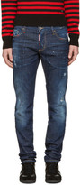 DSQUARED2 Blue and Red Slim Jeans