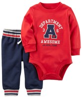 "Carter's Baby Boy Department of Awesome"" Bodysuit & Pants Set"