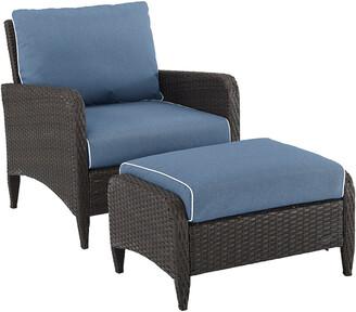 Crosley Kiawah 2Pc Outdoor Wicker Chair Set
