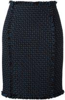Gianluca Capannolo woven pencil skirt
