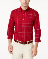 Club Room Men's Windowpane Stretch Shirt, Only at Macy's
