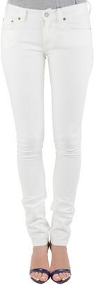 Saint Laurent Paris White Cotton Stretch Denim Skinny Jeans M