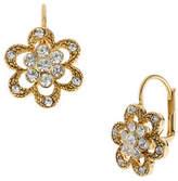 Betsey Johnson Crystal Flower Drop Earring