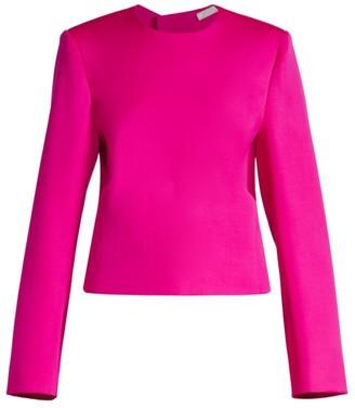 Nina Ricci Wool Open-Back Top