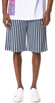 MSGM Striped Elastic Waist Shorts