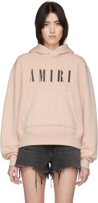 Amiri Pink Logo Core Hoodie