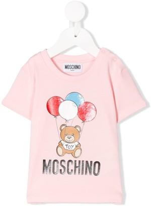 MOSCHINO BAMBINO Toy-print short sleeved T-shirt
