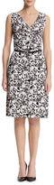Anne Klein Rose Print Sleeveless Dress