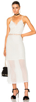 Jonathan Simkhai Threaded Tulle Lace Nightgown in White.