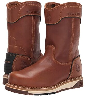 Georgia Boot AMP LT Wedge Pull On Work Boot (Brown) Men's Boots