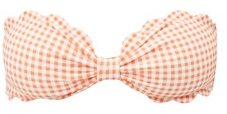 Marysia Swim Antibes Scallop-edged Bandeau Bikini Top - Womens - Orange