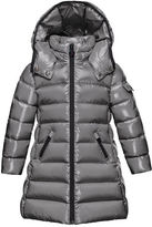 Moncler Moka Hooded Puffer Coat, Navy, Size 4-6