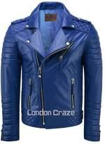 London Craze LondonCraze Men's Biker Leather Jacket XXXL