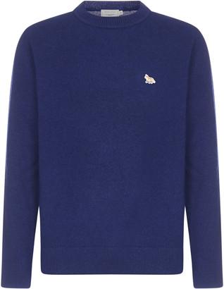 MAISON KITSUNÉ Profile Fox-patch Wool Sweater