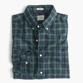 J.Crew Secret Wash shirt in green plaid heather poplin