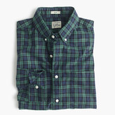 J.Crew Slim Secret Wash shirt in green plaid heather poplin