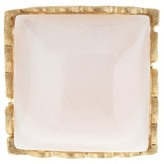 Rivka Friedman 18K Gold Clad Square Mother of Pearl Cutout Shank Ring