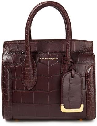 Alexander McQueen Heroine Croc-effect Leather Tote
