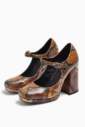 Topshop Womens Gospel Natural Mary Jane Platform Shoes - Natural