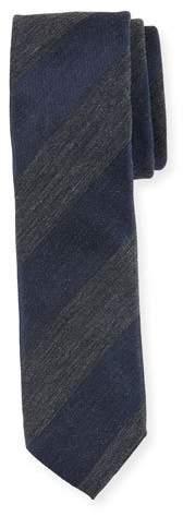 BOSS Heathered Stripe Cotton-Blend Tie
