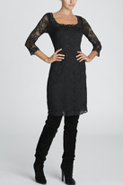 Josie Natori Dahila Long Sleeve Dress