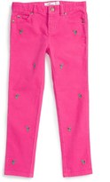 Vineyard Vines Girl's Holly Berry Whale Embroidered Corduroy Pants