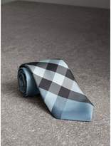 Burberry Modern Cut Check Silk Tie, Blue