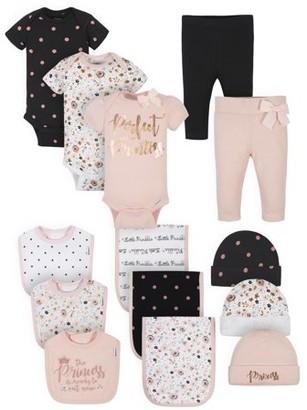 Gerber Baby Girl Organic Newborn Clothes Essentials Shower Gift Set, 14-Piece