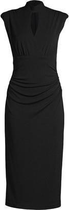 Nicole Miller Mock Neck Midi Dress