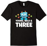 Happy Monster Young, Wild And Three - Birthday Boy T-Shirt