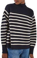 Topshop Stripe Turtleneck Sweater