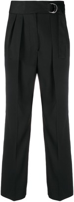 Jil Sander D-ring belted trousers