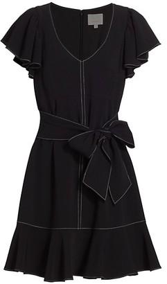 Cinq à Sept Renae Belted Crepe Dress
