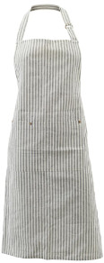 House Doctor - Grey and White Stripe Cotton Apron - cotton | grey and white