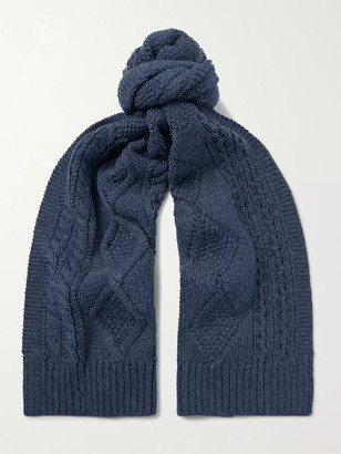 Ralph Lauren RRL Cable-Knit Wool Scarf