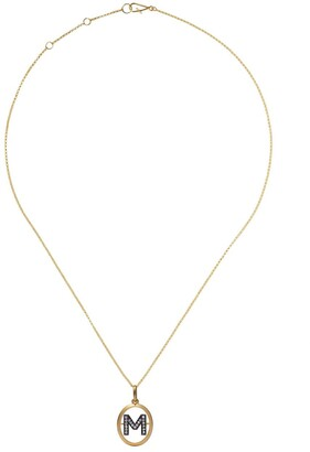Annoushka 18kt yellow gold diamond initial M necklace