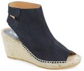 Bettye Muller Women's 'Download' Suede Wedge Espadrille Sandal