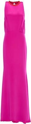 Cushnie Pleated Silk Crepe De Chine Gown