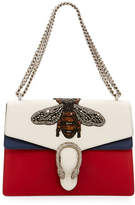 Gucci Dionysus Medium Embroidered Leather Shoulder Bag, White/Red/Blue