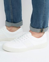 Fred Perry Authentic Leather Trainers In White