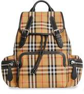 Burberry The Medium Rucksack in Vintage Check and Leather
