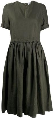 Aspesi v-neck drawstring dress