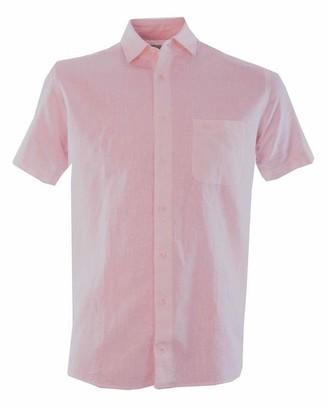 Double Two Linen Blend Short Sleeve Casual Shirt