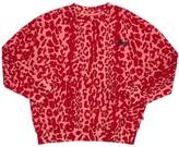 Molo Leopard Print Cotton Sweatshirt