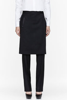 Givenchy Black Wool Wrap Panelled trousers