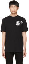 McQ by Alexander McQueen Black Dropped Shoulder Graveyard Bunny T-Shirt