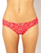 Piha Corolla Gathered Side Bikini Bottoms - Pink