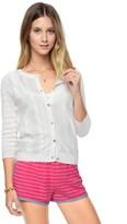 Juicy Couture Multi Pattern Stripe Cardigan