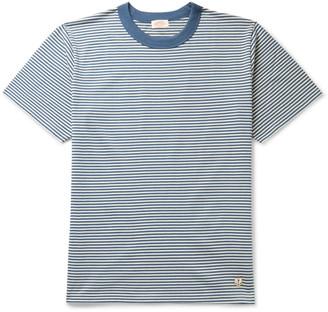 Armor Lux Striped Cotton-Jersey T-Shirt - Men - Blue
