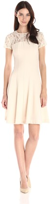Taylor Dresses Women's Stretch Crepe with Lace